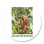 Jack And The Beanstalk Round Car Magnet