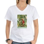 Jack And The Beanstalk Women's V-Neck T-Shirt