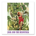 Jack And The Beanstalk Square Car Magnet 3