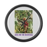 Jack And The Beanstalk Large Wall Clock