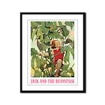 Jack And The Beanstalk Framed Panel Print