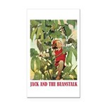 Jack And The Beanstalk Rectangle Car Magnet