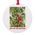 Jack And The Beanstalk Round Ornament
