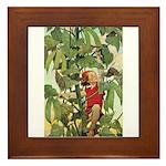 Jack And The Beanstalk Framed Tile