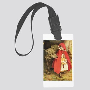 Little Red Riding Hood Large Luggage Tag