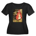Little Red Riding Hood Women's Plus Size Scoop Nec