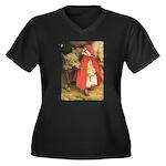 Little Red Riding Hood Women's Plus Size V-Neck Da