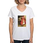 Little Red Riding Hood Women's V-Neck T-Shirt