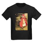 Little Red Riding Hood Kids Dark T-Shirt