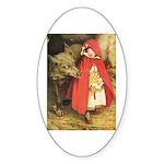 Little Red Riding Hood Sticker (Oval)