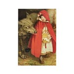 Little Red Riding Hood Rectangle Magnet (100 pack)