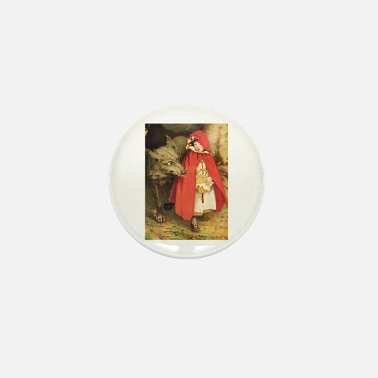 Little Red Riding Hood Mini Button