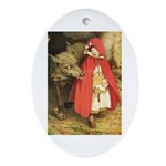 Little Red Riding Hood Ornament (Oval)