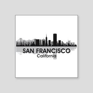"San Francisco Skyline Square Sticker 3"" x 3"""