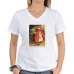 Little Red Riding Hood Women's V-Neck T-Shirt