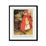Little Red Riding Hood Framed Panel Print