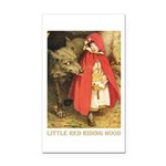 Little Red Riding Hood Rectangle Car Magnet