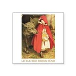 Little Red Riding Hood Square Sticker 3