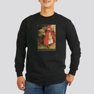 Little Red Riding Hood Long Sleeve Dark T-Shirt