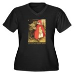 Little Red Riding Hood Women's Plus Size V-Neck Da