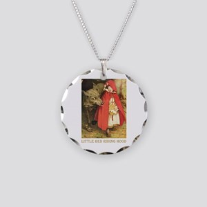 Little Red Riding Hood Necklace Circle Charm