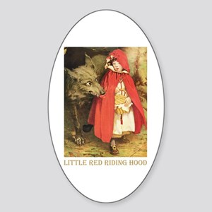 Little Red Riding Hood Sticker (Oval)