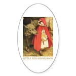 Little Red Riding Hood Sticker (Oval 50 pk)