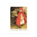 Little Red Riding Hood Sticker (Rectangle 10 pk)