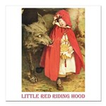 Little Red Riding Hood Square Car Magnet 3