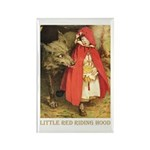 Little Red Riding Hood Rectangle Magnet (10 pack)