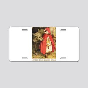 Little Red Riding Hood Aluminum License Plate