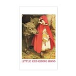 Little Red Riding Hood Sticker (Rectangle)