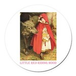 Little Red Riding Hood Round Car Magnet