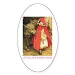 Little Red Riding Hood Sticker (Oval 50 pk)