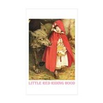Little Red Riding Hood Sticker (Rectangle 10 pk)