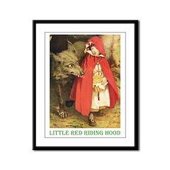 Little Red Riding Hood Framed Panel Print