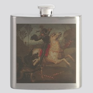 St. George Fighting Dragon Flask