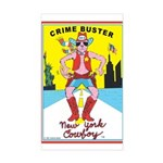 CRIME BUSTER(New York Cowboy) Sticker (Rect.)