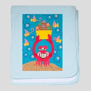 Crabby Birthday baby blanket