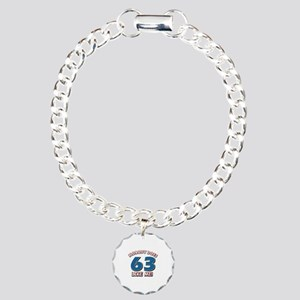 Nobody does 63 like me Charm Bracelet, One Charm