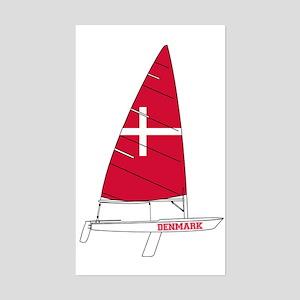 Denmark Dinghy Sailing Sticker (Rectangle)