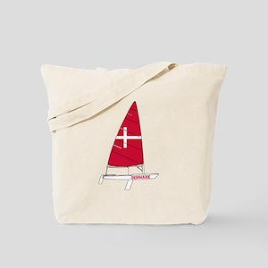 Denmark Dinghy Sailing Tote Bag