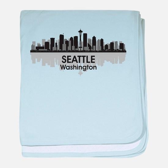 Seattle baby blanket