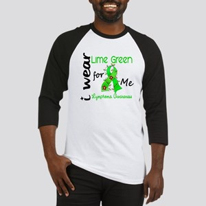 I Wear Lime 43 Lymphoma Baseball Jersey