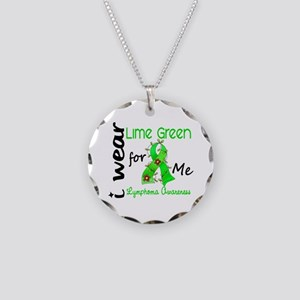 I Wear Lime 43 Lymphoma Necklace Circle Charm