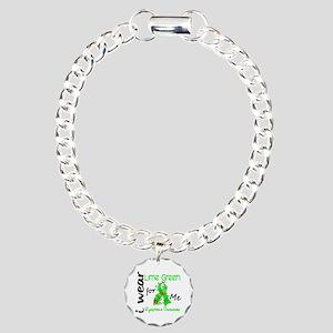 I Wear Lime 43 Lymphoma Charm Bracelet, One Charm