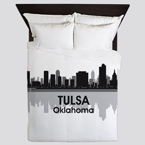 Tulsa Skyline Queen Duvet