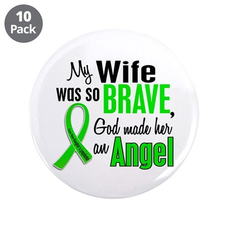 "Angel 1 NH Lymphoma 3.5"" Button (10 pack)"