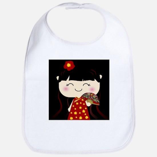 Cute Kawaii Traditional Chinese Girl Squeable Bib