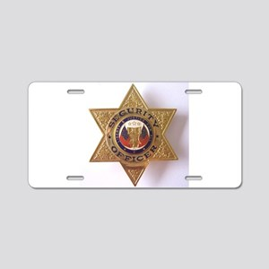 Security7StarBadge Aluminum License Plate